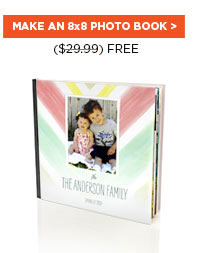 Free 8x8 Photo Book from Shutterfly